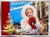 Efeito Árvore de Natal Moldura