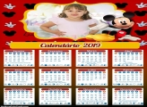Calendário do Mickey Mouse 2019