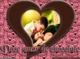 Doce Amor de Chocolate Moldura