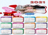 Calendário Peppa Pig Mamãe Noela 2021