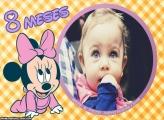 Minnie Baby 8 Meses Moldura