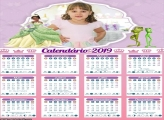 Calendário Princesa Tiana 2019