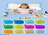 Calendário Quarto Azul Baby Disney 2019
