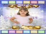 Calendário Natal Dourado 2019