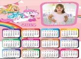 Calendário Desenho Unicórnio 2019 Moldura