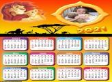 Calendário Rei Leão 2021