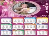 Calendário com Flores 2021