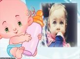 Bebê com Mamadeira Moldura