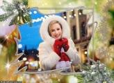 Enfeites de Natal Dourado Moldura
