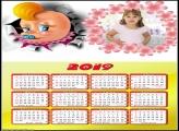 Calendário Bebê Chupeta 2019 Moldura