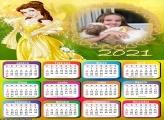 Calendário Bela Princesa 2021