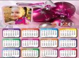 Calendário Bolas Natal Cor de Rosa 2020