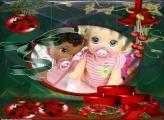 Velas Vermelhas Natalina FotoMoldura