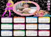 Calendário Barbie Escola de Princesas 2021