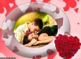 Coração feito com Rosas Vermelhas