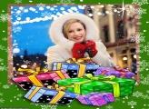 Presente de Natal para Família Moldura
