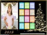 Calendário Árvore de Natal Iluminada 2019
