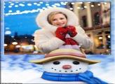 Boneco de Neve de Cachecol Moldura