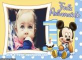 Feliz Aniversário 1 Ano Mickey Moldura