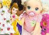 Princesa Bella na Árvore de Natal