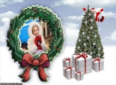Guirlanda e Árvore Natal Moldura