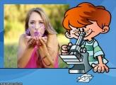 Moldura Aluno Microscópio