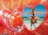Foto Moldura Eu te Amo Dia dos Namorados