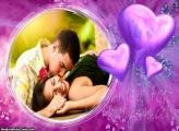 Moldura Três Corações de Amor