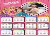 Calendário Princesas Disney 2021