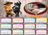 Calendário Gato de Botas 2021