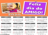 Calendário Feliz Dia do Amigo 2020
