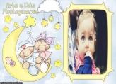 Bebês na Lua Moldura