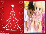 Cartão de Árvore de Natal FotoMoldura