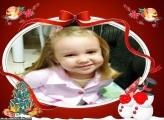 Moldura Boneco de Neve e Árvore de Natal