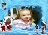Moldura Neve no Dia de Natal