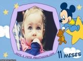 Mickey Baby 11 Meses Moldura