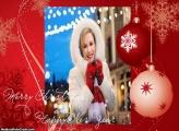 Feliz Natal em Inglês Moldura