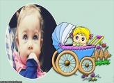 Bebê no Carrinho Moldura