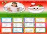 Calendário Rosto do Papai Noel 2019