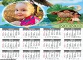 Calendário Chefe Tui e Moana 2020