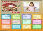 Calendário Papai Noel Legal 2019 Moldura