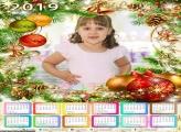 Calendário Natal Enfeitado 2019