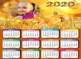 Calendário Dourado Final de Ano 2020