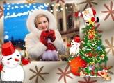 Natal Emoldurar Foto na Moldura