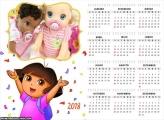 Calendário Dorinha 2018