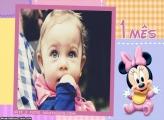 Minnie Baby 1 Mês Moldura