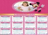 Calendário da Minnie Rosa 2019