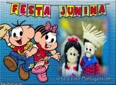 Festa Junina Monica e Cebolinha Moldura