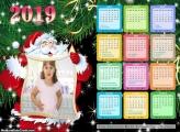 Calendário Placa do Papai Noel 2019