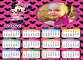 Calendário Minnie Mouse Rosa 2020
